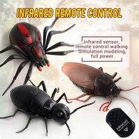الرعب الكهربائية عجلة التحكم عن وهمية وهمية محاكاة صرصور الحشرات العنكبوت لعبة المزحة نكتة مخيف خدعة هدية كبيرة