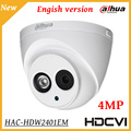 4mp câmera hdcvi dahua wdr ir eyeball câmera de segurança do ir distância 50 M IP67 Ao Ar Livre Indoor IR Inteligente HD SD saída dual-câmera de CCTV