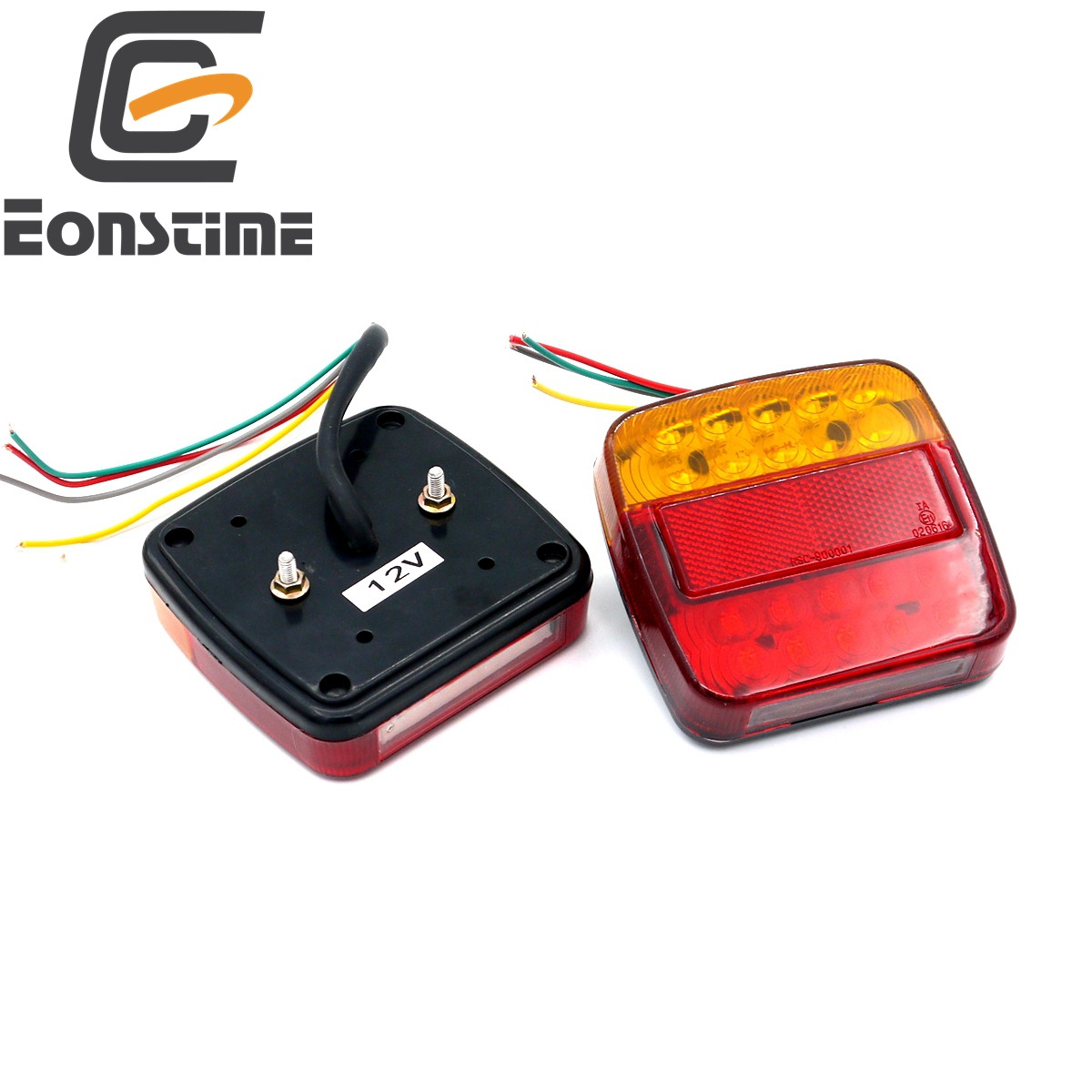 Eonstime 2 unids 12 V Remolques camión 20 luz trasera LED luz trasera Lámparas freno 6 led placa de luz de lámpara
