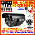 "High-End SONY Camera 1/3""CCD Effio 4140+238IMX Ccd900TVL Outdoor Waterproof OSD Menu Infrared Array HD Night Vision 50m Bracket"
