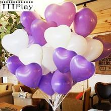 10 sztuk/partia 10 calowy romantyczny miłość serce lateksowe balony nadmuchiwane wesele dekoracji piłki powietrza z okazji urodzin zaopatrzenie firm