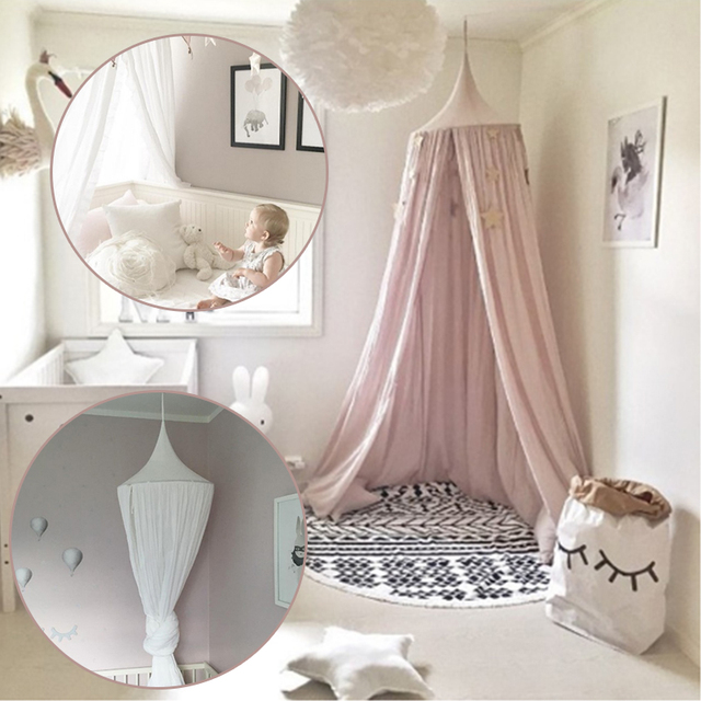 Round Crib Part - 43: Kids Baby Bedding Dome Bed Canopy Netting Bedcover Mosquito Net Curtain  Baby Room Decoration Round Crib