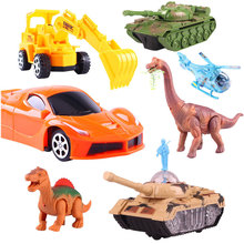 цены Remote Control Rc Car 2wd 4wd Racing Yellow Plastic Tank Forklift Nitro Rc Car Buggy 1:10 1:30 Radio-Controlled Car Toy Dinosaur