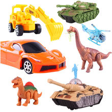 Remote Control Rc Car 2wd 4wd Racing Yellow Plastic Tank Forklift Nitro Rc Car Buggy 1:10 1:30 Radio-Controlled Car Toy Dinosaur(China)