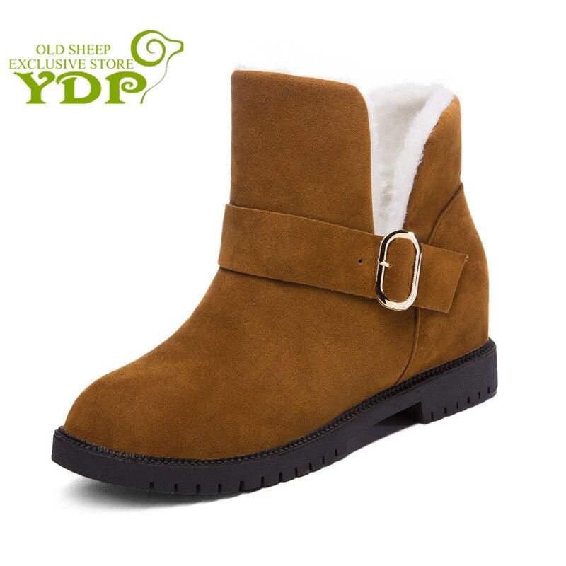 Rétro Véritable Cuir Femme Bottes hautes hiver chaud Boucles Fermeture Éclair Bloc Chaussure