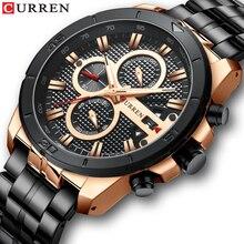 CURREN Men Watch Top Brand Luxury Chronograph Quartz