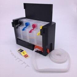4 kolor luksusowy zbiornik uniwersalny DIY CISS podobny oryginalny zbiornik z przełącznikiem do Epson Canon HP Brother 100ML zewnętrzny zbiornik z atramentem w System stałego zasilania atramentem od Komputer i biuro na