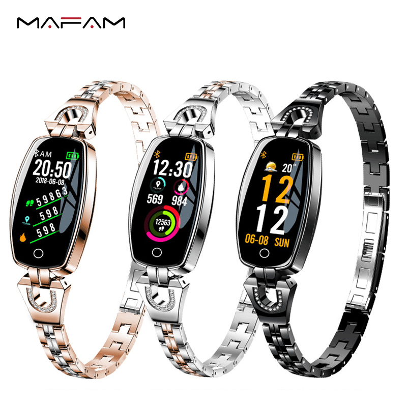 MAFAM Smart Band Women Blood Pressure Step Fitness Tracker Heart Rate Monitor Smart Bracelet Multiple Sport Waterproof Wristband