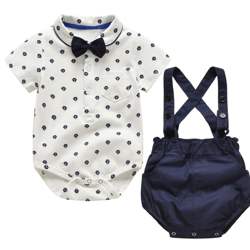 751bfbb22092c Cheap product 2019 baby boy rompers summer baby boy clothing set in ...