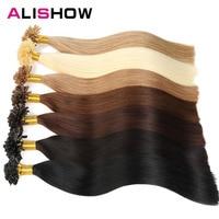 Alishow Hair 1g/s 16 24 Remy Nail U Tip Human Hair Extension Bleach Blonde 613 European Pre Bonded Hair Extension 100g