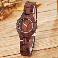 Creative Wooden Women Bracelet Watch Fashion Ladies Full Natural Wood Analog Quartz Wristwatch Casual feminino montre Clock Gift