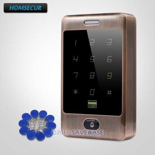 HOMSECUR Waterproof Anti-Vandal Standalone RFID ID Metal Access Control with Doorbell
