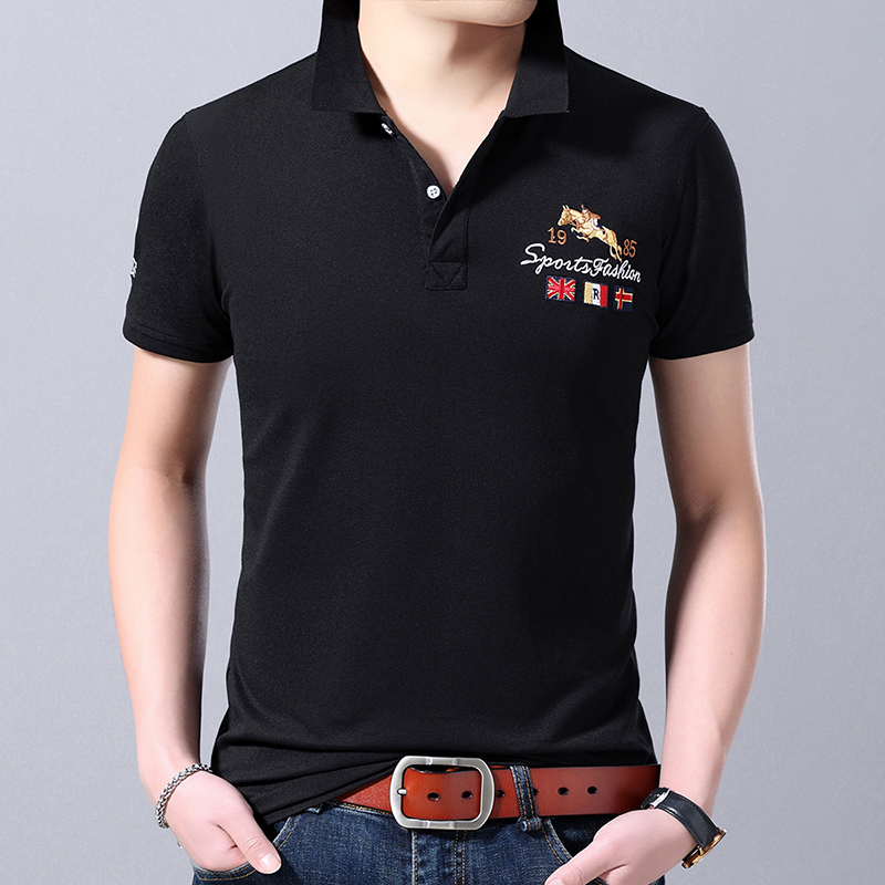 2019 New Fashions Brand Designer Clothing   Polo   Shirt Men's Top Grade Summer Short Sleeve Slim Fit Poloshirt Casual Men Clothing
