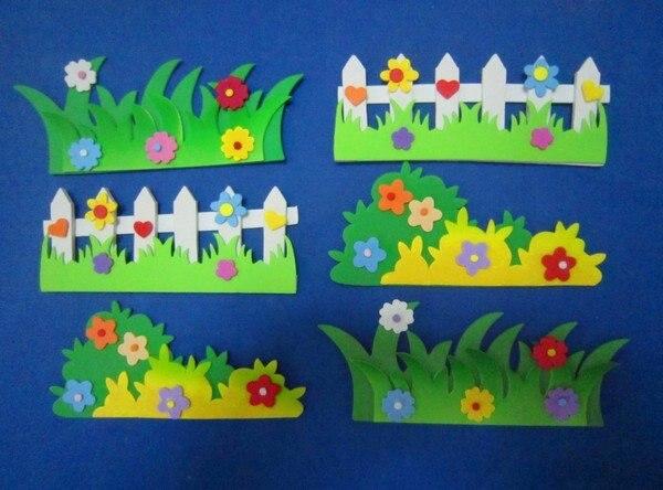 Nursery Classroom Wall Decoration ~ Nursery decoration d wicket wall stickers kid classroom