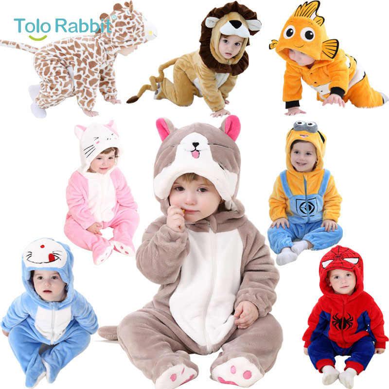 Bebé de dibujos animados pantalones recién nacido con capucha Niño ropa  niños niñas Minions Animal mono cf1e93c578a