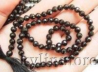 4 MM 6mm 8mm 10mm Naturel Noir Colonne Vertébrale À Facettes Ronde Perles