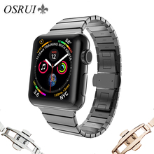 Link bracelet for Apple watch band 44mm 40mm iwatch Stainless steel strap correa 42mm 38mm for apple watch series 4 Accessories watch band link lever ear ear screw rod for cartier pasha series watch accessories