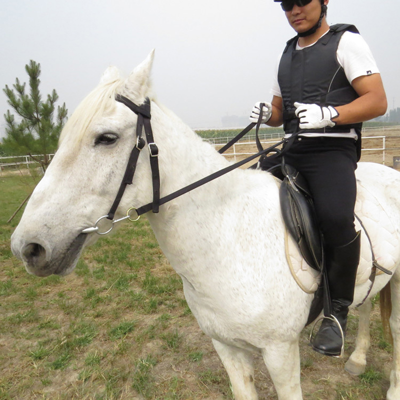 Durable Horse Riding Accessories Equestrian Supplies Full Horse Bridle With Fixed Rein High Quality Belt For Horse Equipment