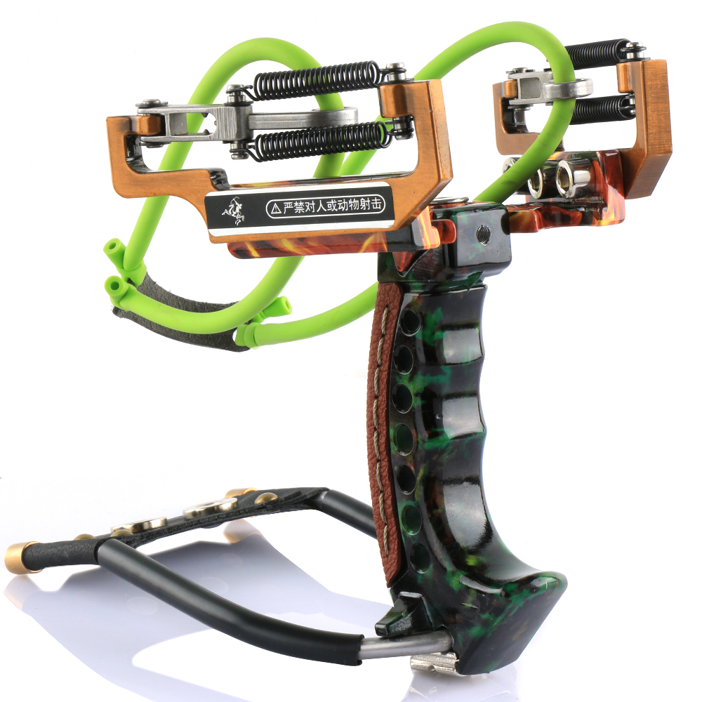 1pc Powerful Aluminum Fishing Slingshot Catapult With Arrow Brush For Outdoor Hunting Shooting