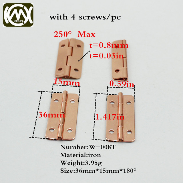 1536mm 30pc Limited Special custom style Rose gold Hinge Jewelry