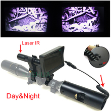 Фотография Newest Outdoor Hunting optical sight 4-16X40AOMC Tactical digital Infrared night vision Laser Sight use in day or dark night
