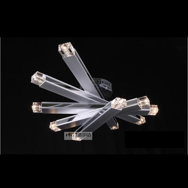 Moderne Kristall Aluminium Tube Fan Form Esszimmer Deckenleuchte Kreative  Arbeitszimmer Restaurant Wohnzimmer Parlor Deckenleuchte