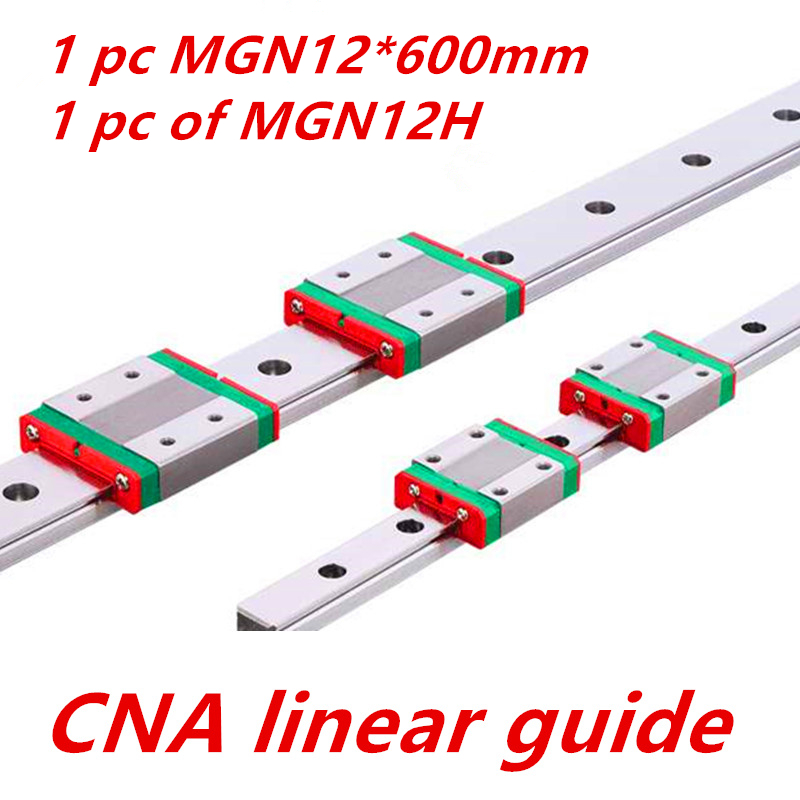 Kossel Pro Miniature MGN12 12mm linear slide 1 pc 12mm L 600mm rail 1 pc MGN12H