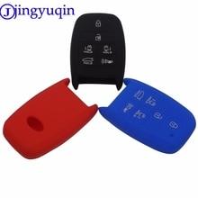 jingyuqin 6 Buttons Remote Silicone Car-Styling Key Case Cover Proctetor For Kia K3 K5 Grand Carnival Sorento Sedona Smart