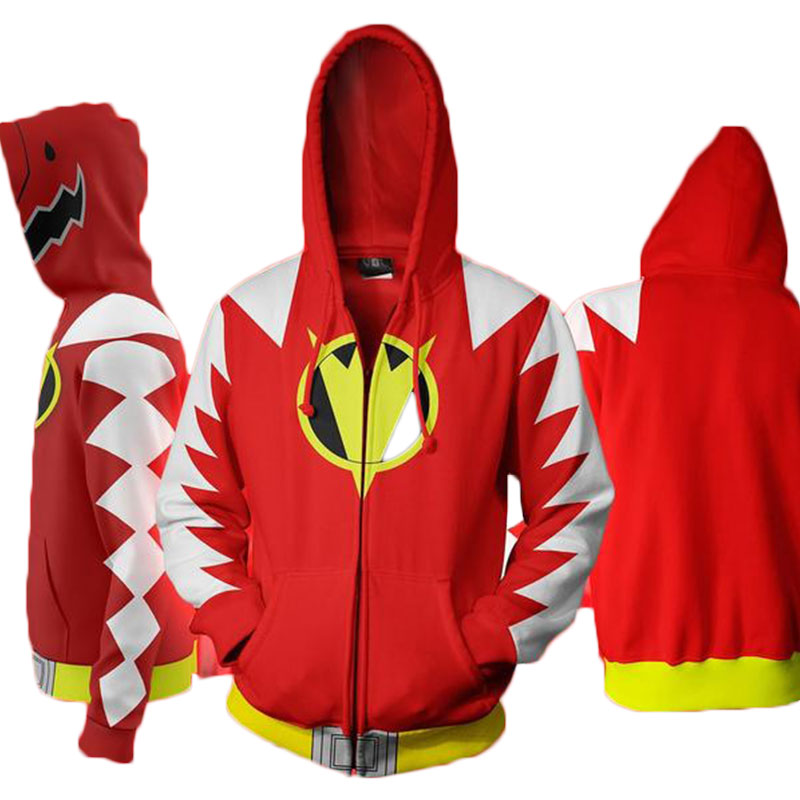 Cloudstyle Cosplay 3D Zip Up Hoodies Άνδρες Dino Charge 3D - Ανδρικός ρουχισμός - Φωτογραφία 2