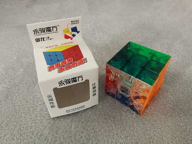 YJ Transparent Magic Cube 3x3x3 Professional Speed Puzzle Cube Game  Smooth Rubik Cube Educational Toys for Kids Gifts