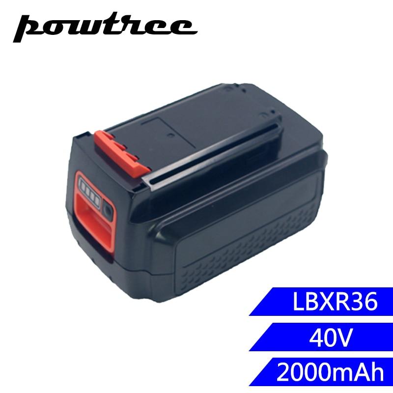 2000mAh 36V Li-ion LBX36 Rechargeable Battery For Black&Decker LBXR36 BXR36 LST136 LST420 LST220 LST400 LST300 MTC220 MST1024 power tool battery b&d 36v li ion 3000mah lbx36 lbxr36 bxr36 lst136 lst420 lst220 lst400 lst300 mtc220 mst1024 mst2118 cst1200