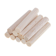 10pcs 50-250mm Round Blank Unfinished Balsa Wood Wooden Dowel Rod Pole for Woodcraft Hobbies DIY Craft Airplane Model Building(China)