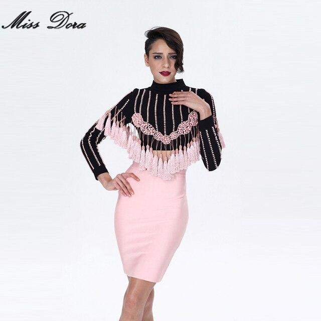 2016 New winter Fashion Luxury Tassel beading Long Sleeve celebrity runway  Coat Sexy Women basic coats   short jacket wholesale dabdc0c83b1b