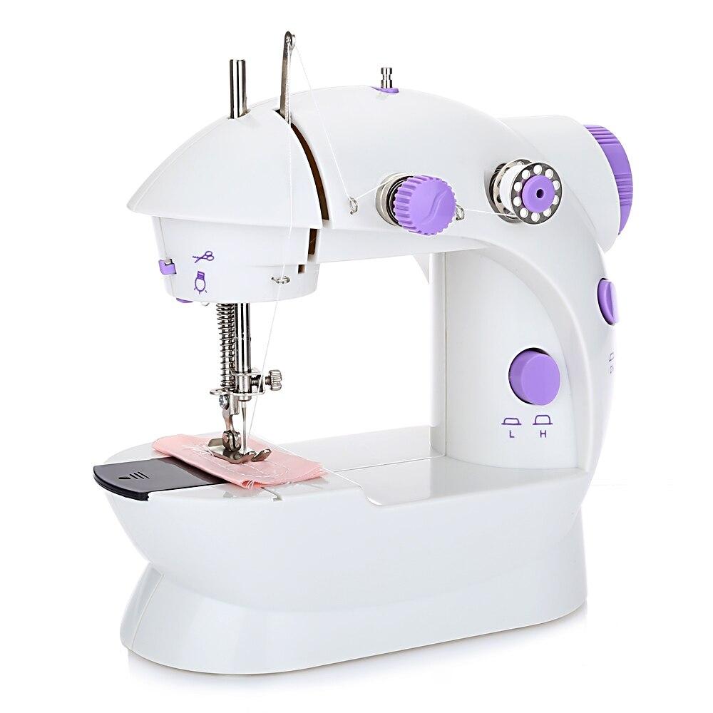 Mini-Ordinateur De Poche Machine À Coudre À Double Vitesse Double Fil Électrique Automatique Bande De Roulement Rembobinage Presseur Pieds UE/US/UK Plug nightMode XJ30