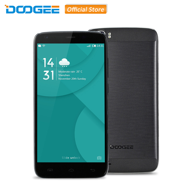 Original DOOGEE T6 Pro 5.5'' HD Screen MTK6753 Octa Core 1.5GHz Android 6.0 3GB RAM 32GB ROM 6250mAh Battery 13.0MP Smartphone