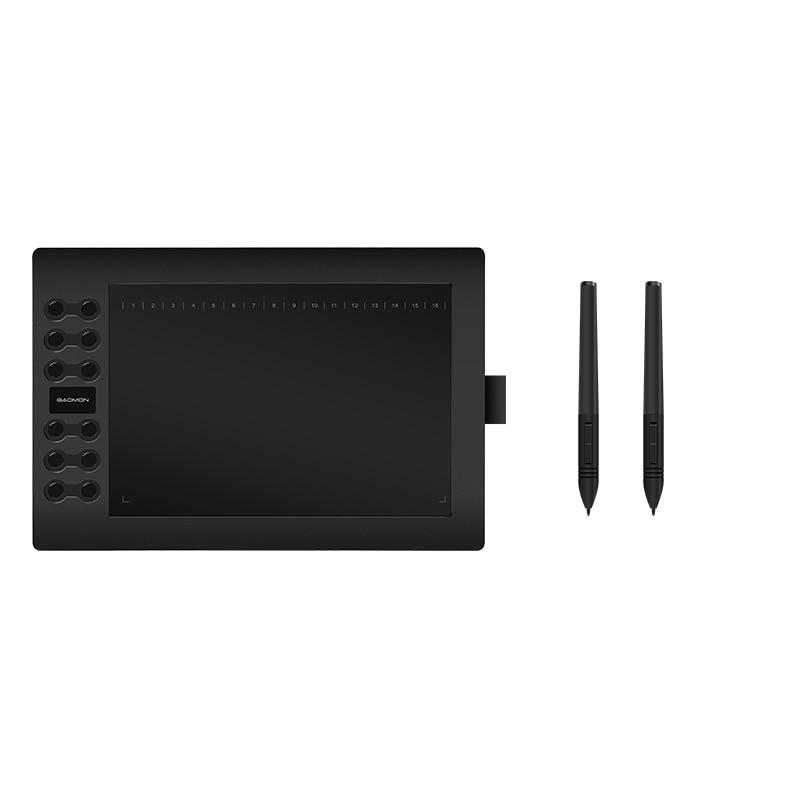 Original GAOMON 12 Teclas Expressas M106K DrawingTablets para Edição de Fotos Digital USB Caneta de Desenho Em Quadrinhos com Recarregável