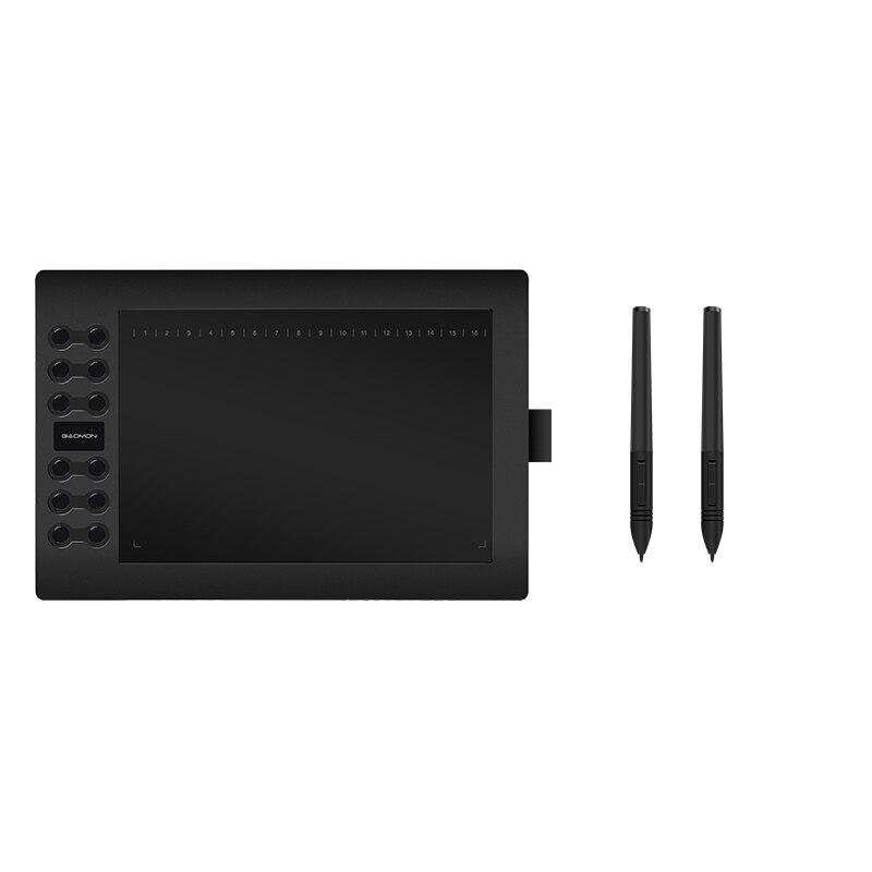 Original GAOMON 12 expresas llaves M106K Digital USB DrawingTablets de edición de fotos de dibujo con batería recargable de la pluma