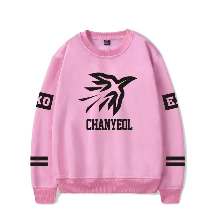Popular Team EXO Sweatshirt with Pink Red color Capless Winter Hoodie Women EXO Fans Sweatshirts Harajuku Girl Female Clothes