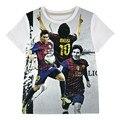 Camiseta meninos roupas Crianças marca de manga curta t-shirt idade adolescente roupas de bebê verão crianças tops T-shirt estrela do Futebol do Futebol