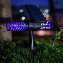 Solar Mosquito Killer Lawn Light Flying Insect Killer Hang Or Stake In The Ground Garden Lamp Portable LED Anti-mosquito Machine(China)