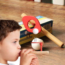 baby wood puzzle toy children's ball swing rod balance training children young girls learn educational toy(China)