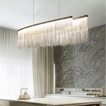 Modern Living Room Chandelier LED Lustre Restaurant Villa Lighting Creative restaurant Hangingn Chain Light