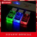 YUFANYF 2017 pendrive 3 colors Red / blue / green LED Benz car LOGO USB falsh drive 4GB 8GB 16GB 32GB U Disk crystal gift