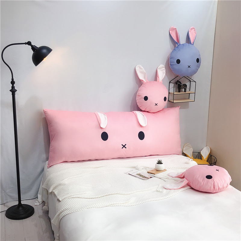 Big Bed Cushion Bed Head Long Pillow Rabbit Ear Round Rectangle Shape Pillow With Inner Home Textile Bedding Pillows