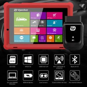 Image 2 - VPECKER E1 Wifi profesyonel OBD2 otomotiv tarayıcı ABS TPMS DPF SAS IMMO OBDII teşhis aracı ile 10 inç Tablet ücretsiz güncelleme