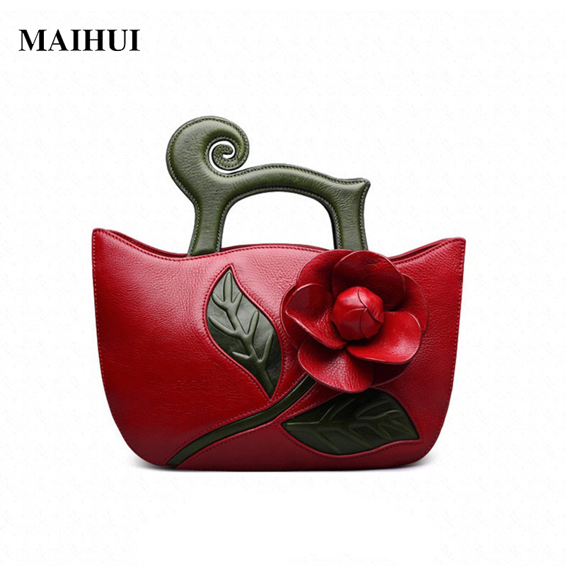 Maihui women leather handbags high quality shoulder bag 2017 new designer ladies national cowhide real genuine leather tote bag chispaulo women genuine leather handbags cowhide patent famous brands designer handbags high quality tote bag bolsa tassel c165