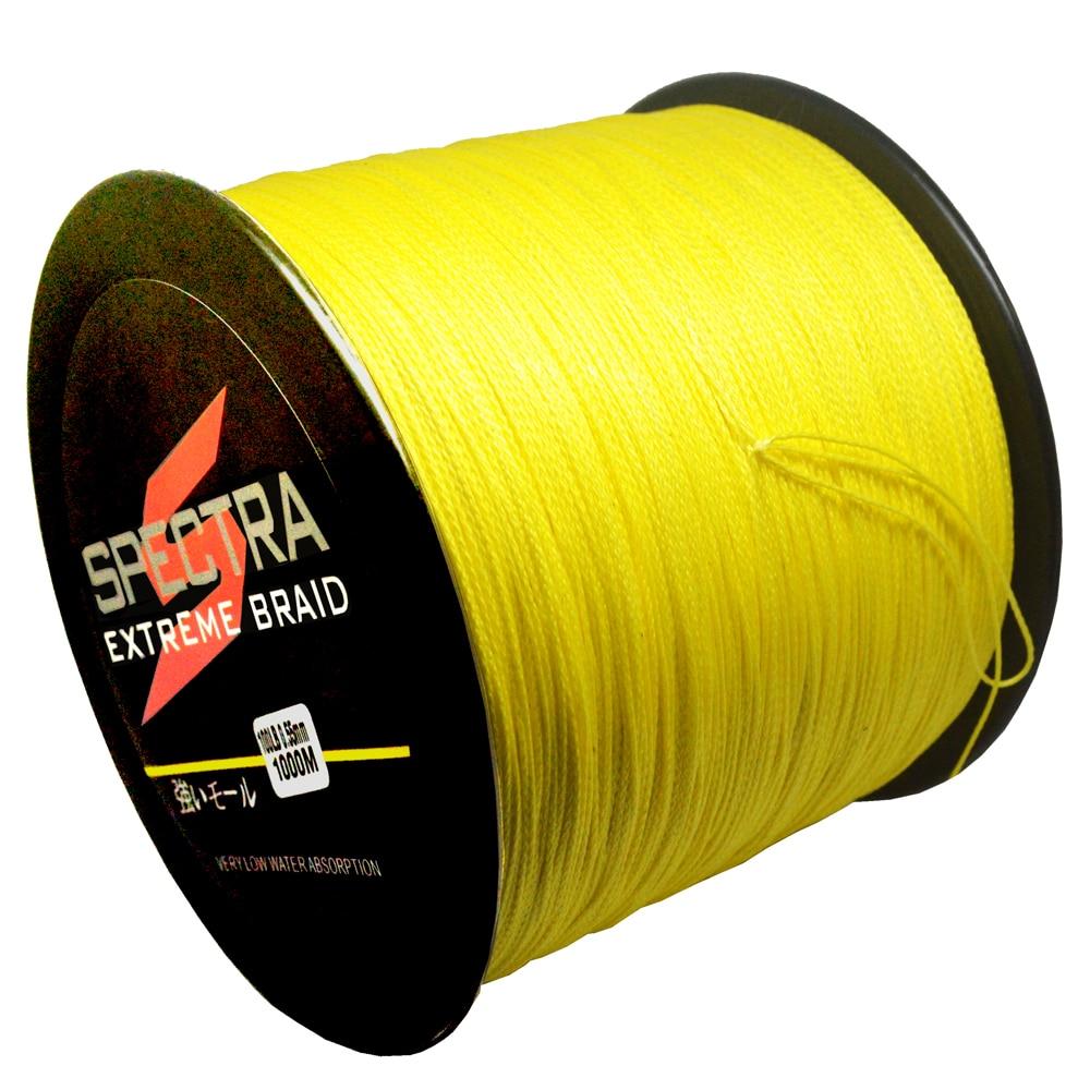 Power pro 1000m 10 100lb pe braided fishing line 4 strands for Power pro braided fishing line