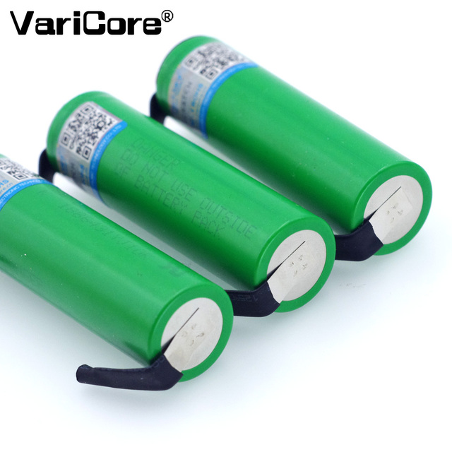 VariCore VTC6 3.7V 3000mAh 18650 Li-ion Battery 30A Discharge for US18650VTC6 Tools e-cigarette batteries+DIY Nickel sheets 2