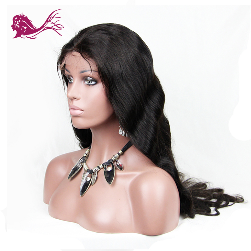 EAYON Brazilian Full Lace Human Hair Wigs Remy Body Wave With Baby Hair 130% Density Natural Color  For Black Women