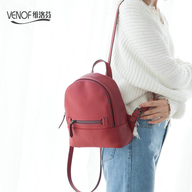VENOF Multifunction real Leather women kanken mini Backpack fashion Travel bag women Shoulder Bags girl zipper small School Bags luxury oil wax genuine cow leather women backpack small women s travel bags multifunction korean fashion women shoulder bags